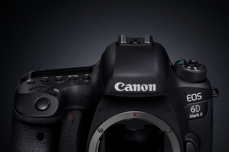 canon eos 6d mark ii top side view