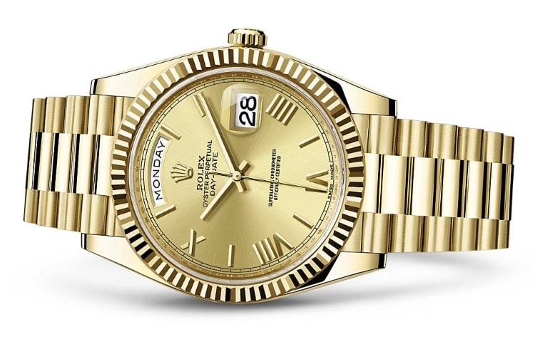 rolex oyster gold color