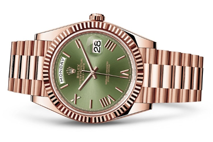 rolex oyster perpetual day date 40 green dial