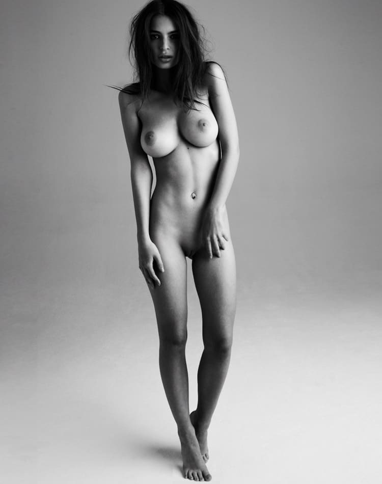 emily ratajkowski naked standing without dress