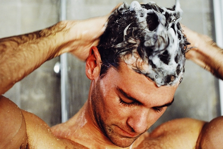 Image result for man shampooing hair