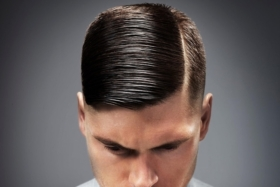 locating side part mens hair