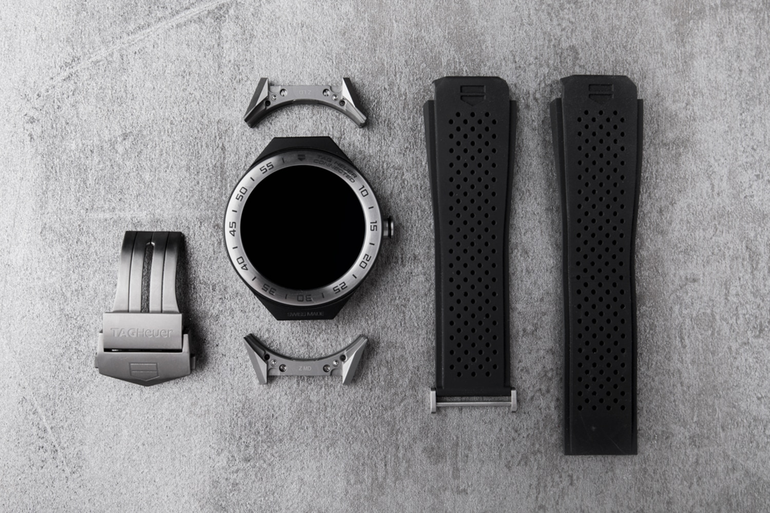 ag heuer black color watch accessories