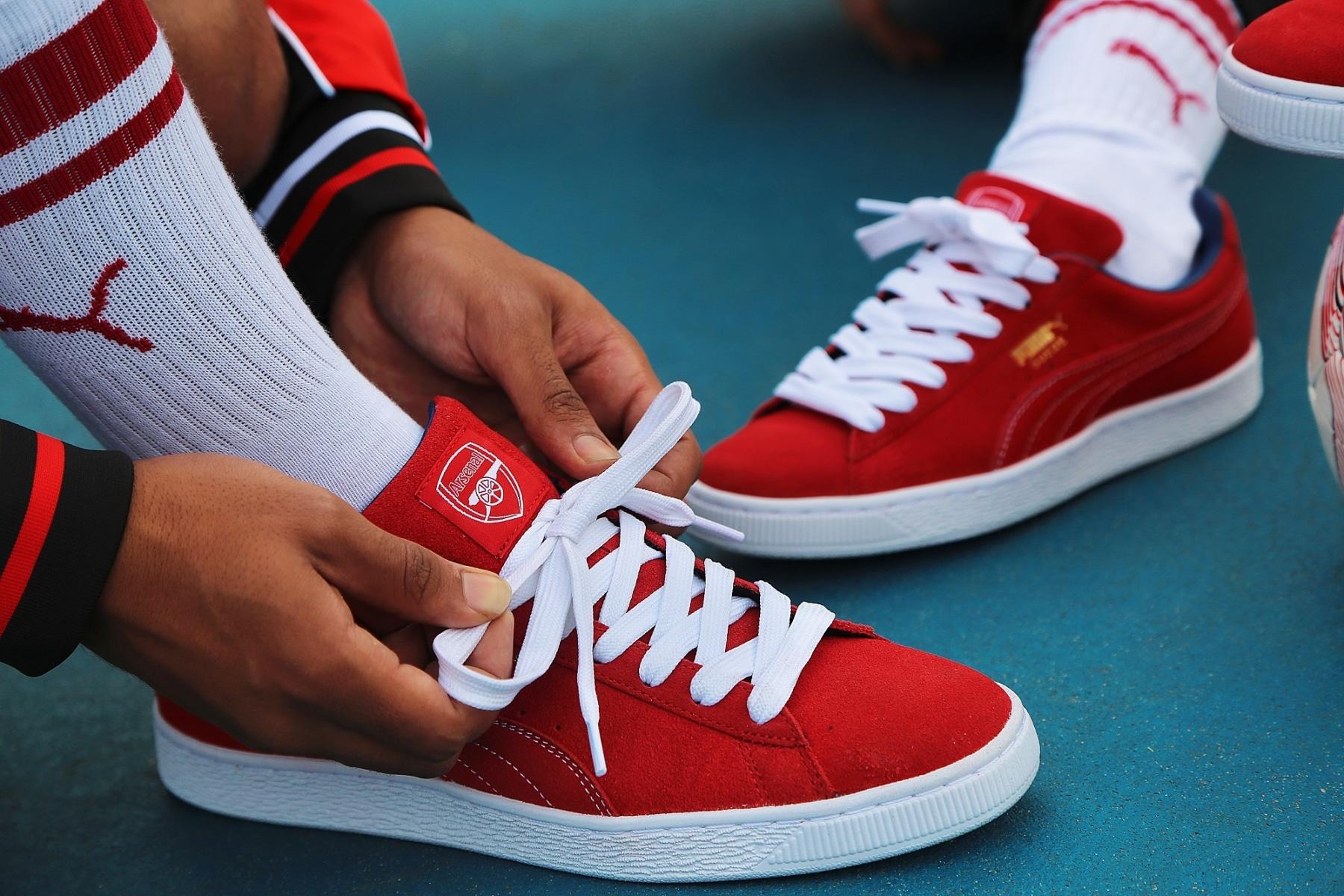arsenal puma sneakers strap