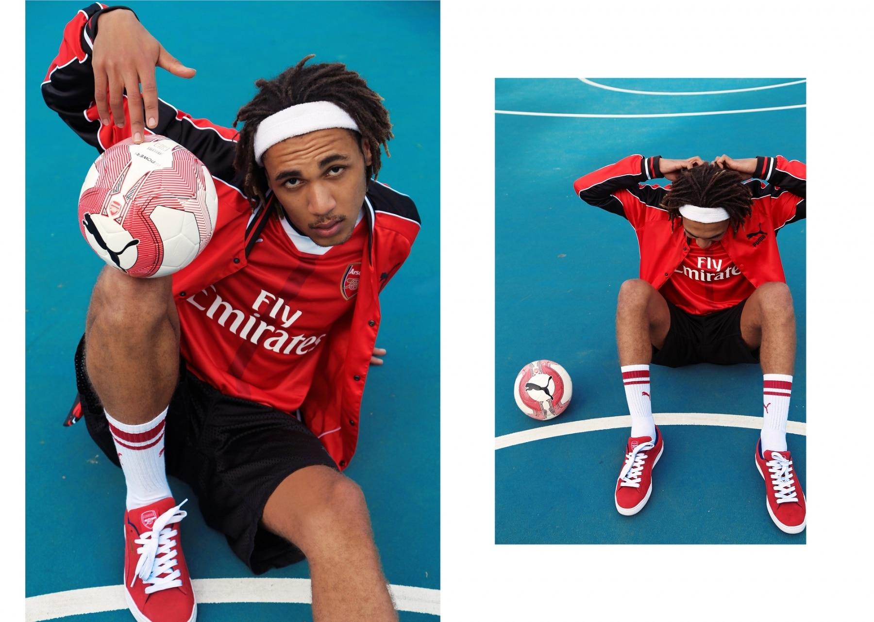 stylish football kids of arsenal