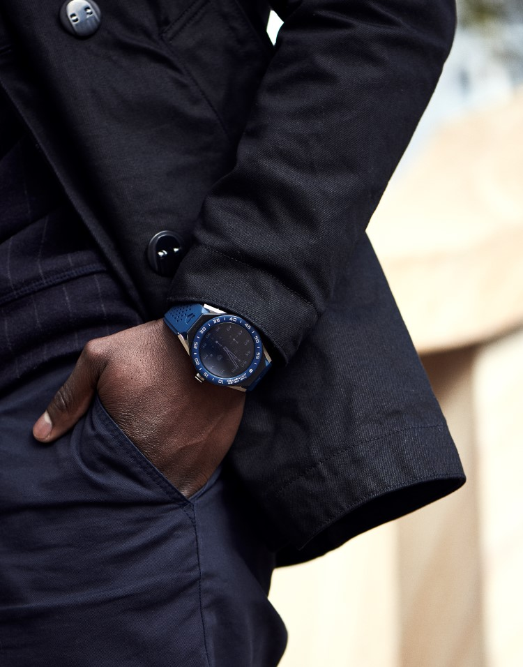tag heuer watch hand in the pocket