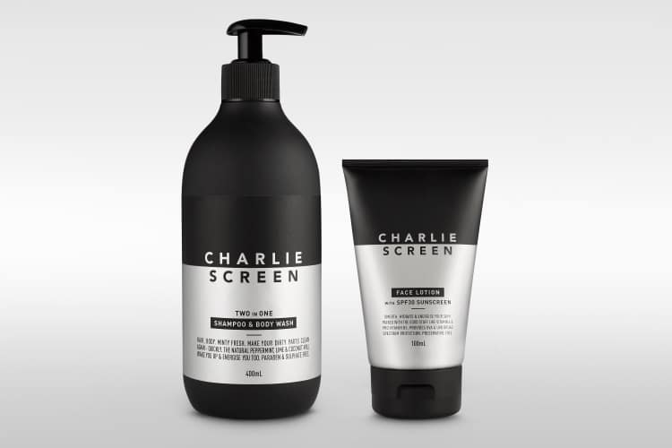 charlie screen face lotion body wash