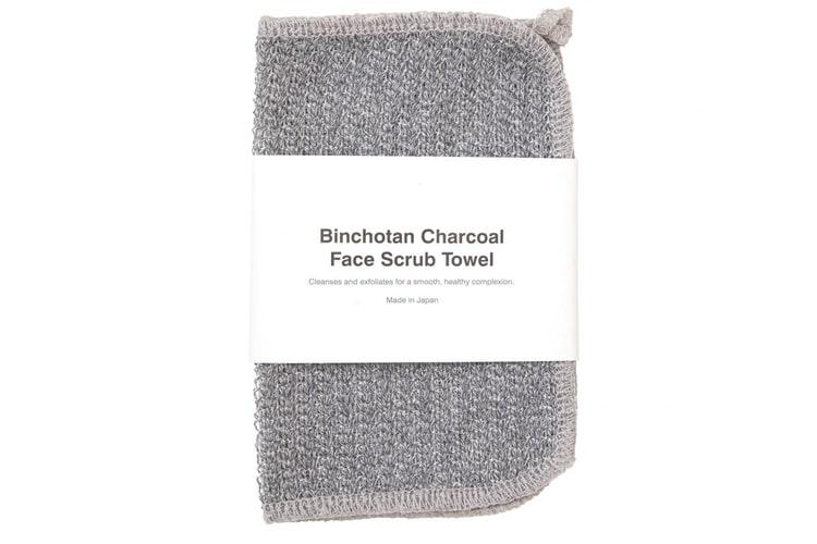 binchotan charcoal face scrub towels