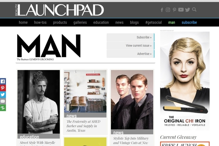 man magazine by beauty launchpad