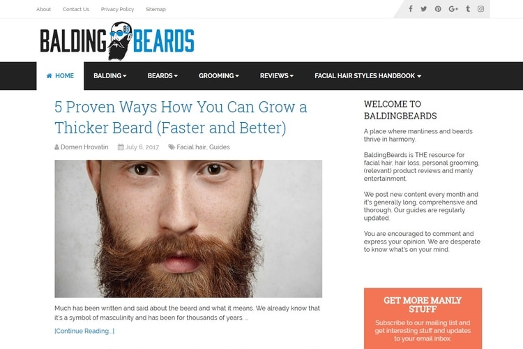 balding beards grooming site