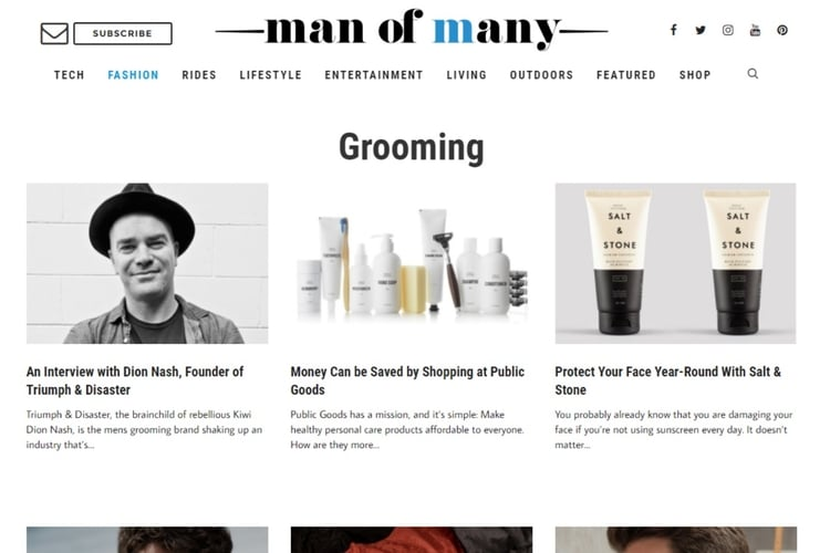 man of many grooming site