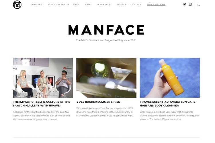 man face grooming site