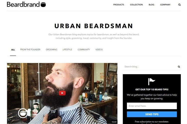 urban beardsman from beardbrand