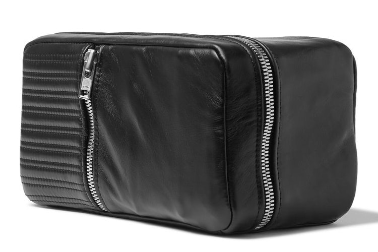 patricks quilted leather wash bag