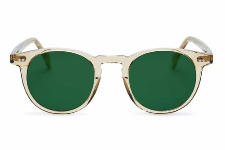 pacifico optical buckler champagne green lens