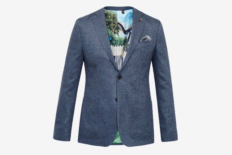 ted baker herringbone wool jacket
