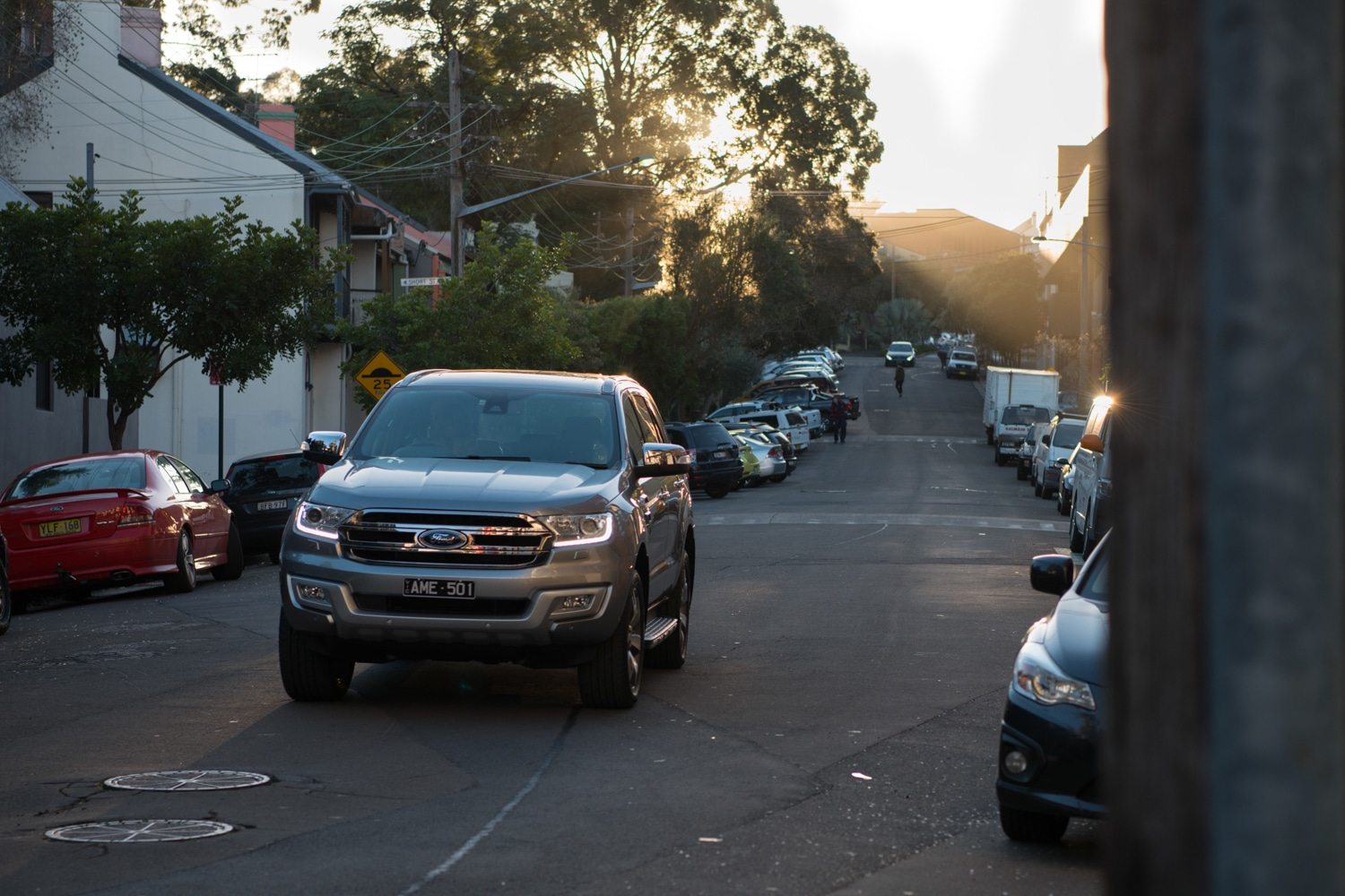 ford everest car on the road
