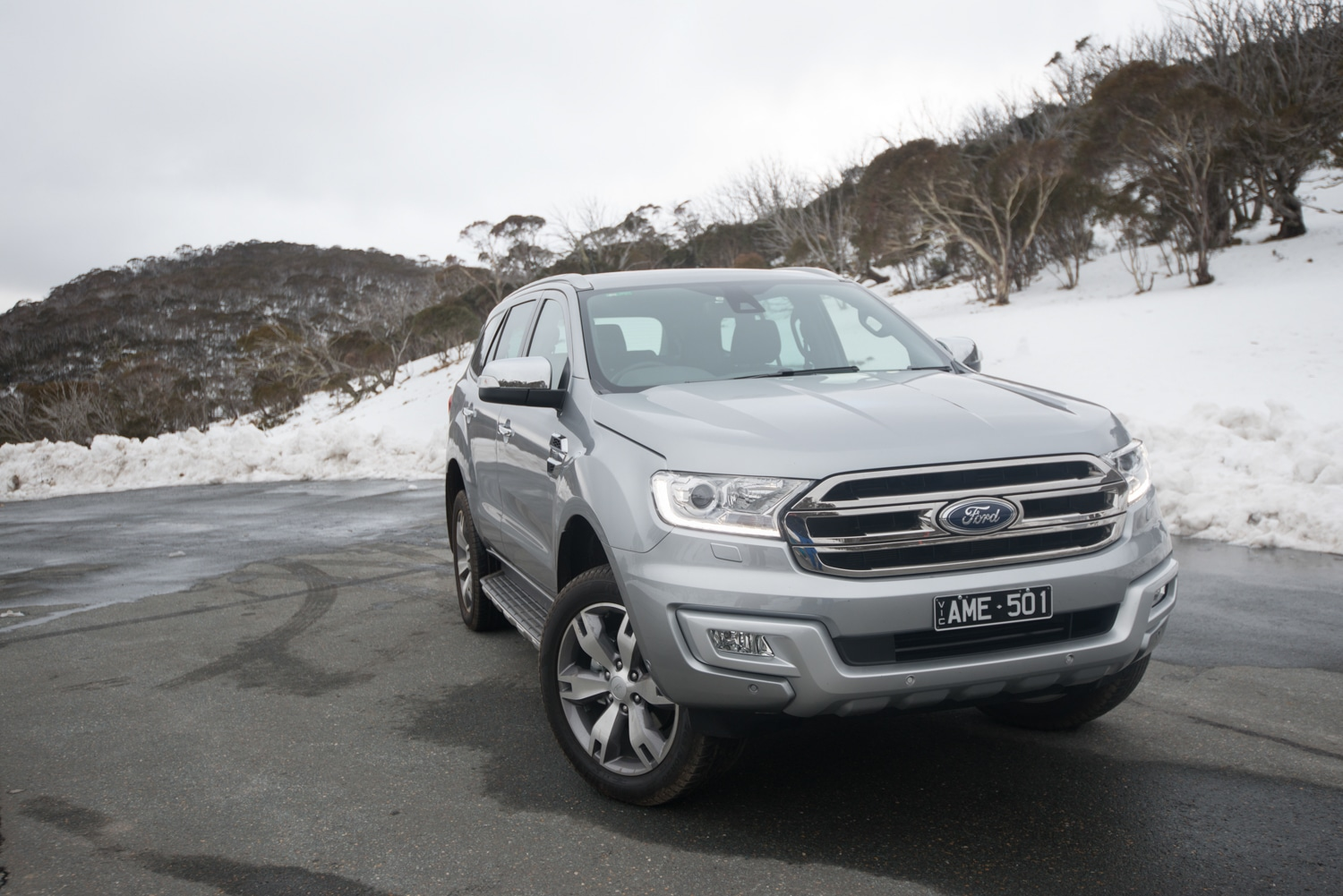 ford everest car standing on the road