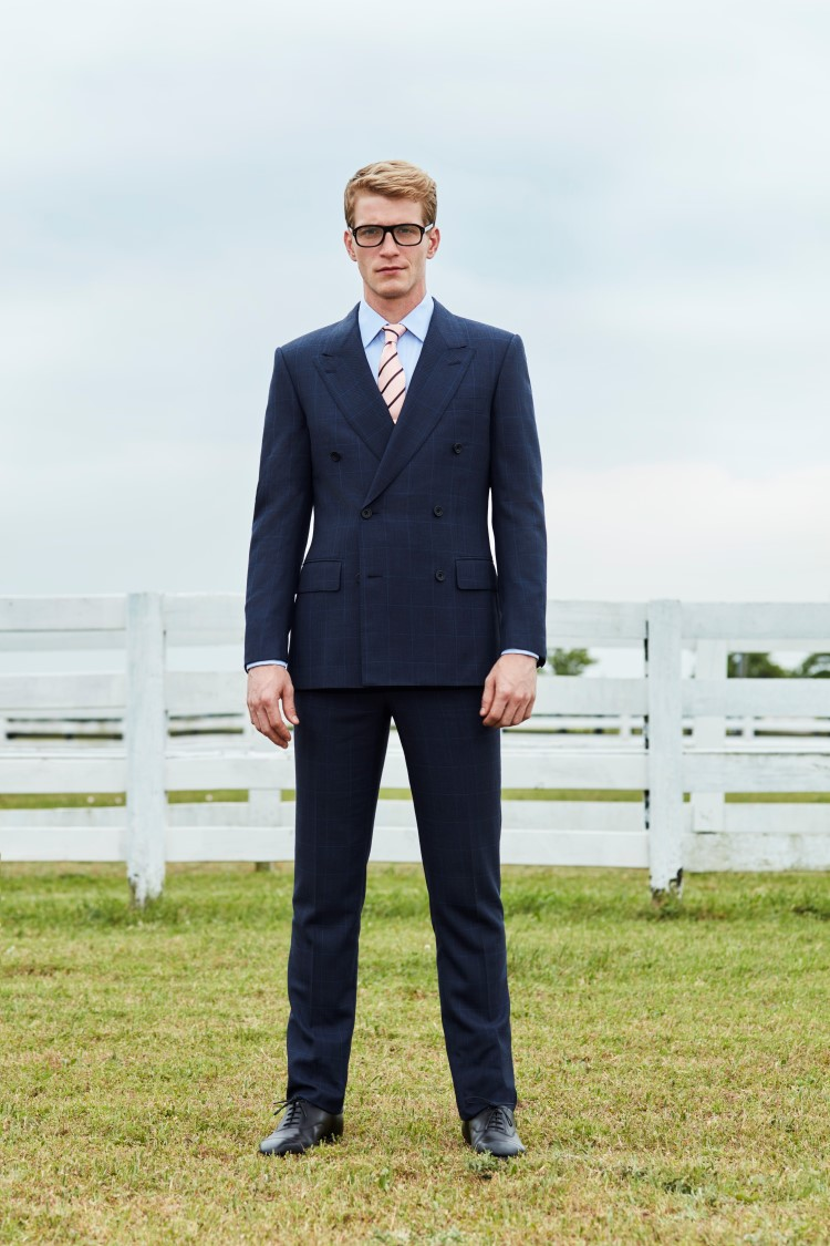 kingsman over check double breasted suit