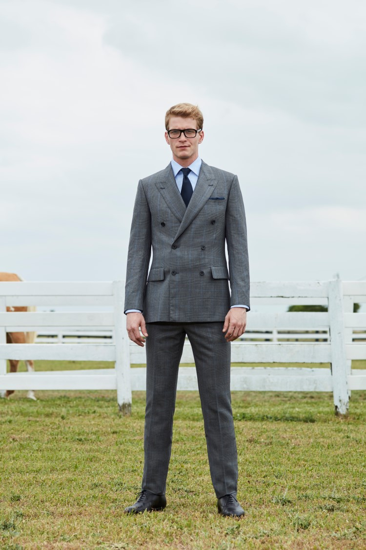 kingsman double breasted checked suit