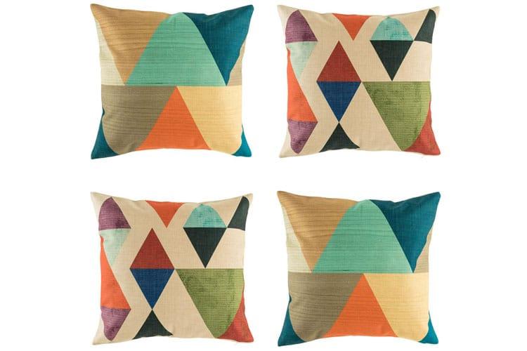 cushions vivid colours