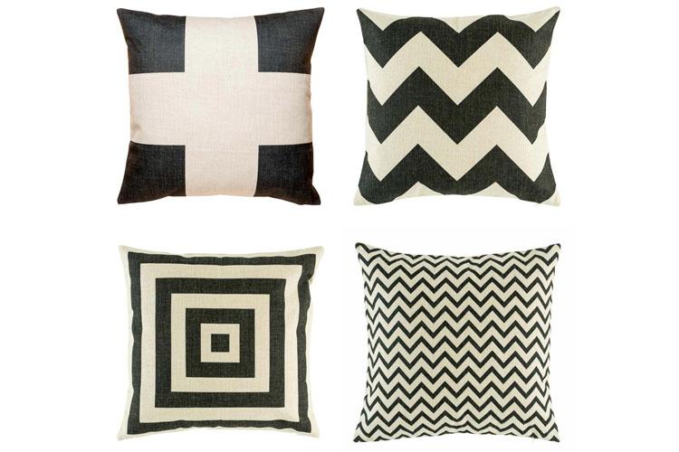 black and white cushions nz