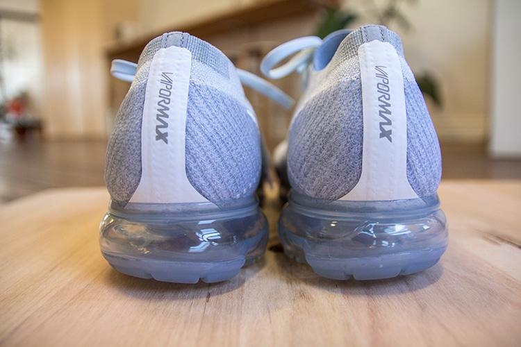 nike air vapormax flyknit sneaker shoe heel cap