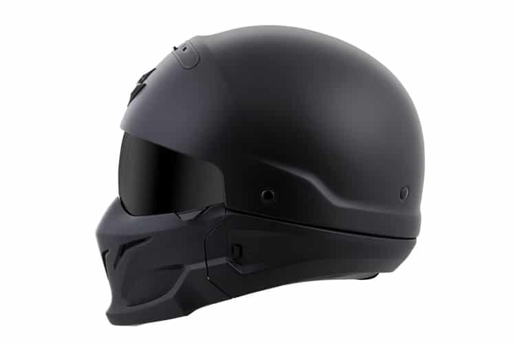 scorpionexo covert motorcycle helmet design