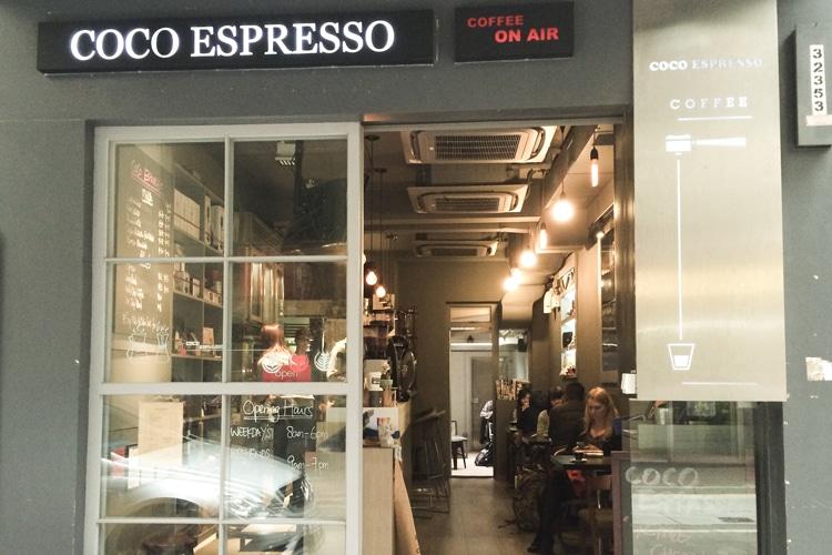 hong kong city coco espresso coffee shop