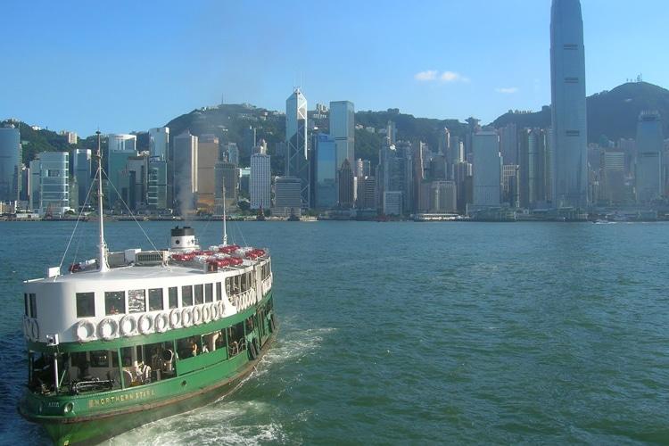 hong kong city star ferry traveling
