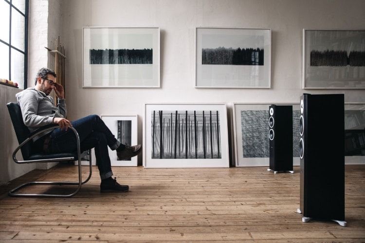 dynaudio xeo loudspeaker view a man