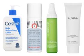Bottles of moisturizers