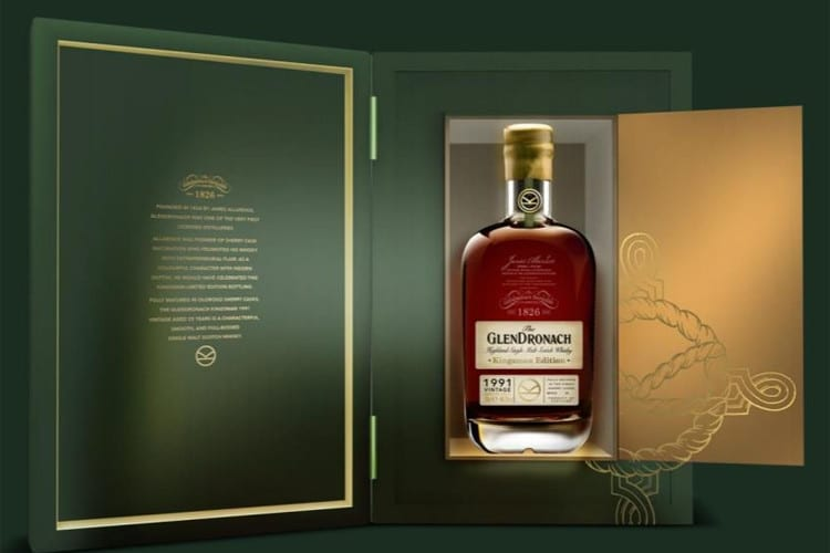 glendronach whisky packet design