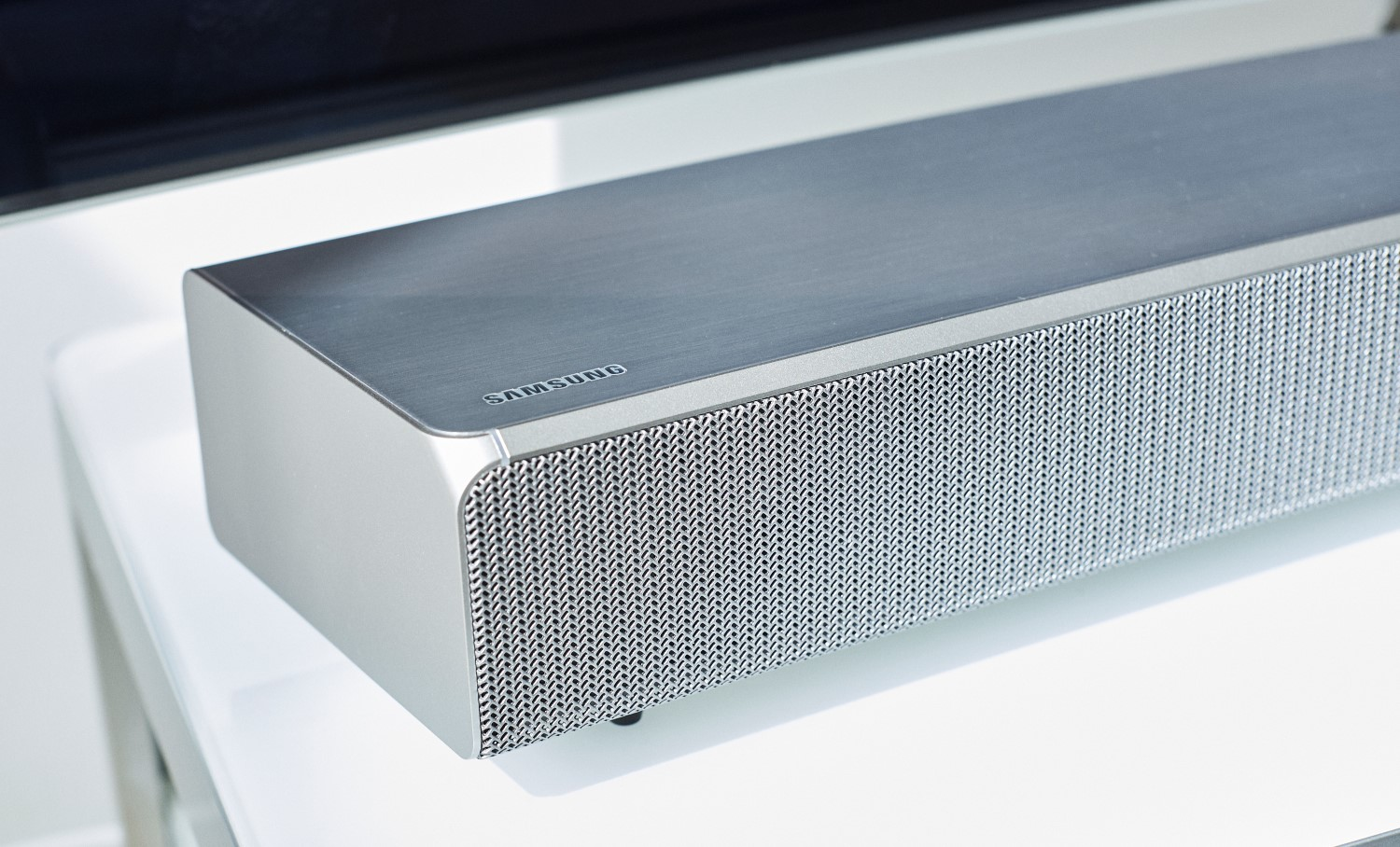 samsungs sound and soundbar side and front view