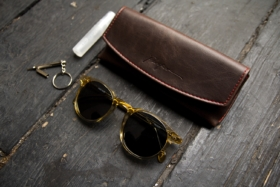 sunglasses and case with key ring