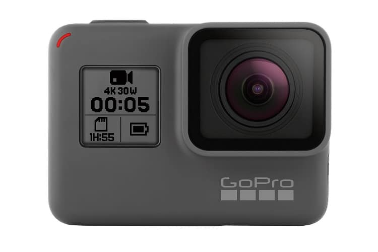 gopro hero5 black back side view