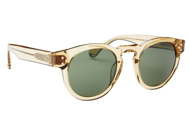 lola champagne with green lens