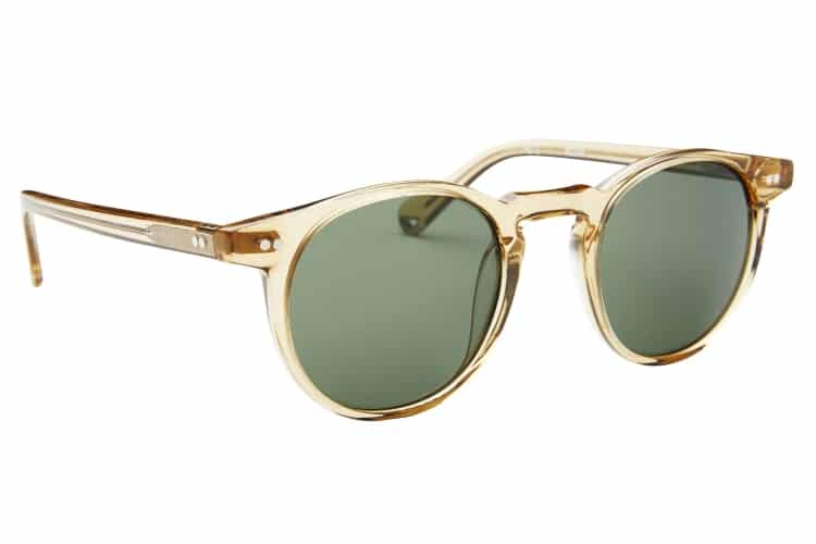 buckler champagne with green lens