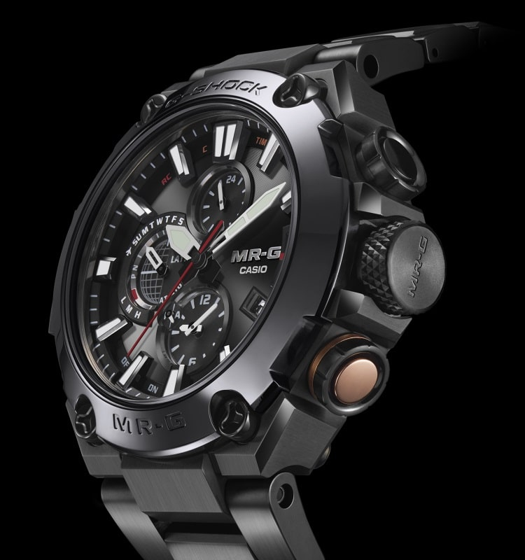 casio g shock mr g  watch crown