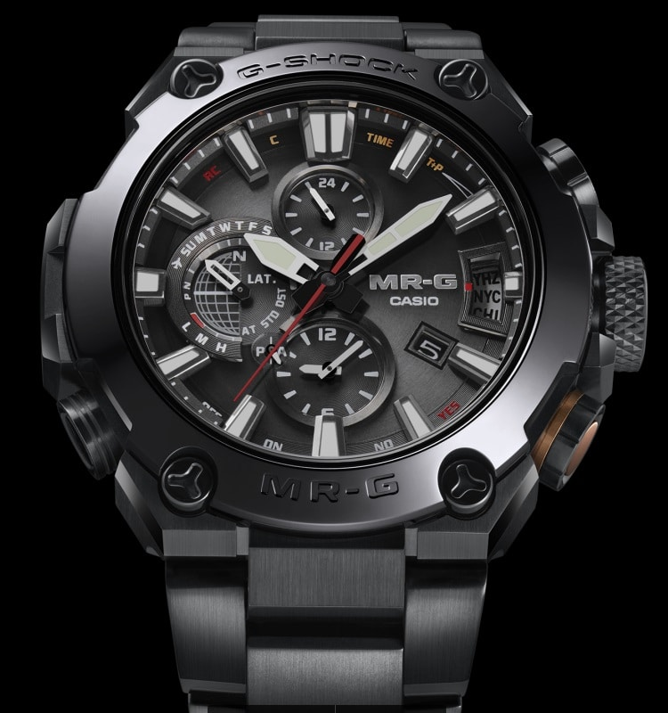 casio g shock mr g  watch crystal display