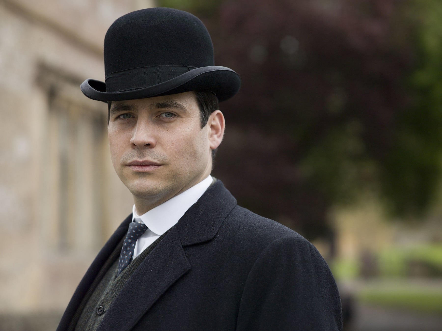 men wear black derby hat