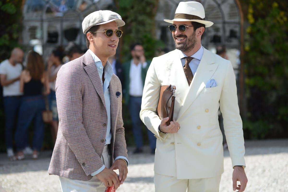 men wear off white cap