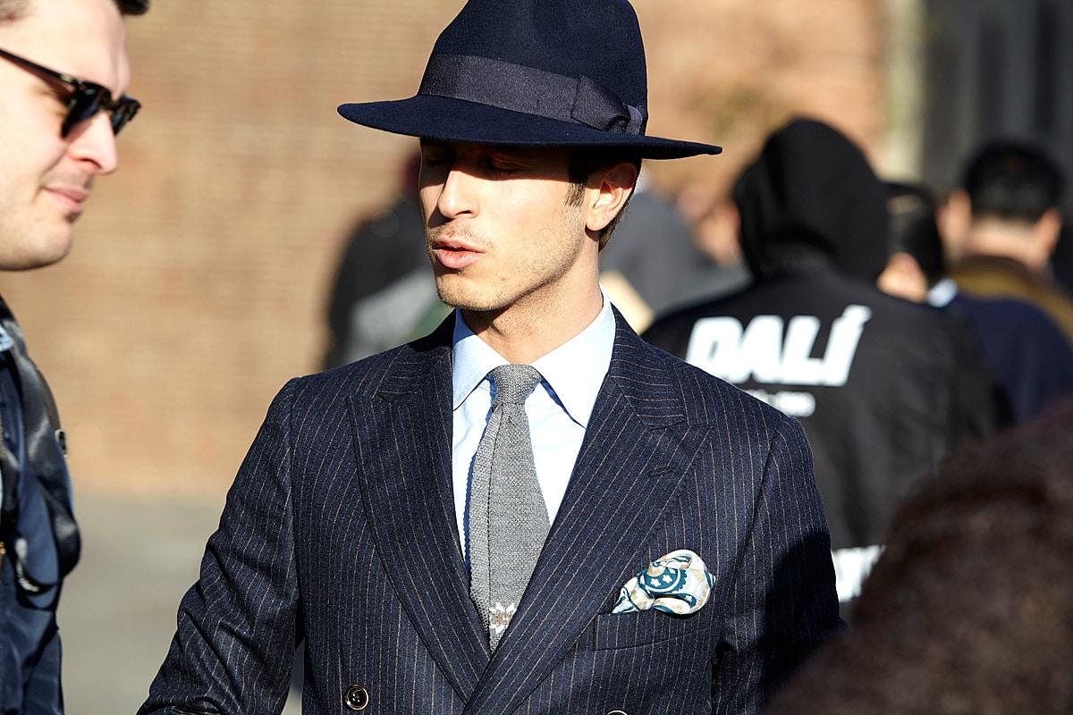 men wear blue cap