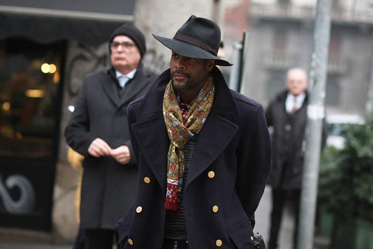 men wear black tribly cap