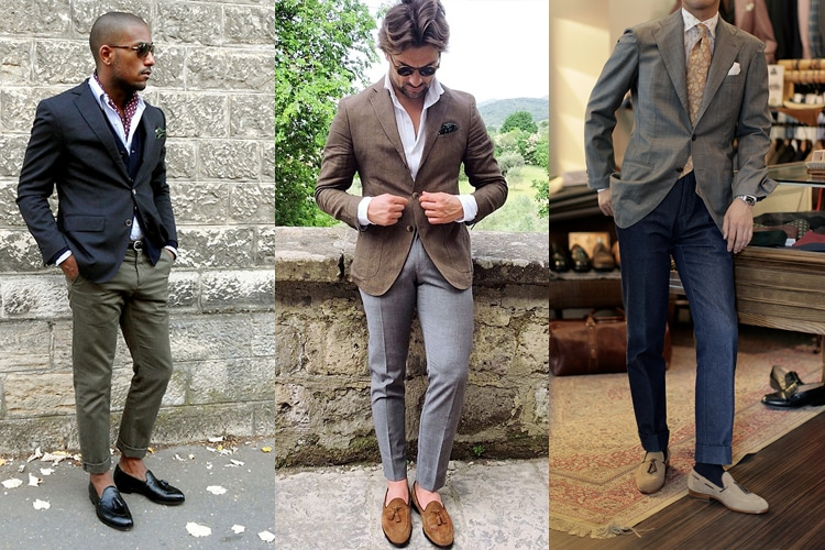 How to wear loafers, three styles