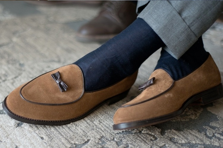 Loafers with socks