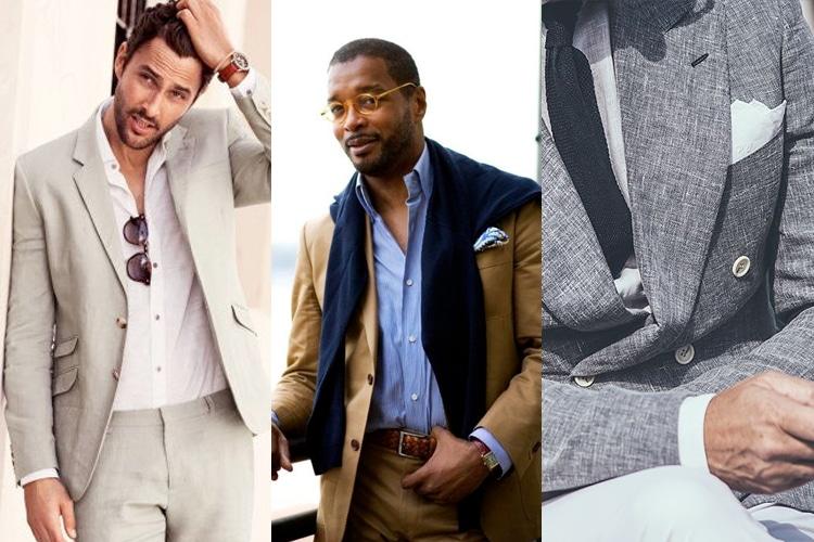 accessories linen suit