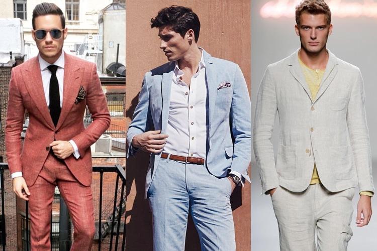 embrace colour linen suit