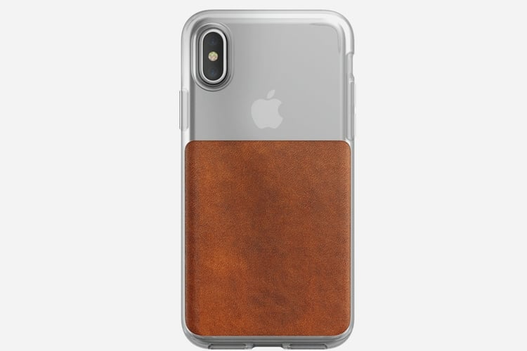 iphone x nomad clear case back