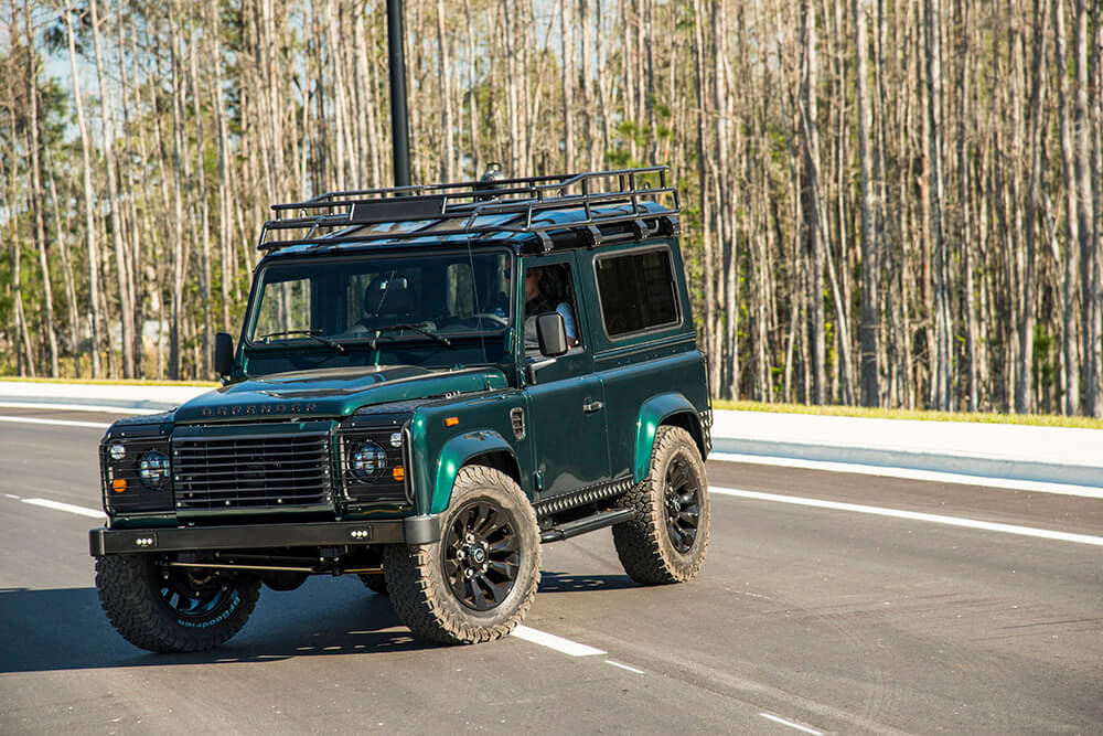 vintage land rover front